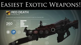 There are many ways to acquire exotic weapons and armour in destiny