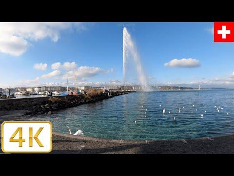 Jet d'eau (Water Jet) Geneva, Switzerland | Autumn 2020【4K】