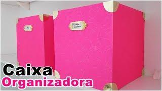 DIY Caixa Organizadora | Artesanato para decorar e organizar seu cantinho | Viviane Magalhães