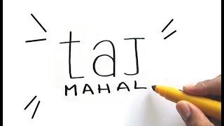 How to Turn Words Taj Mahal into Art