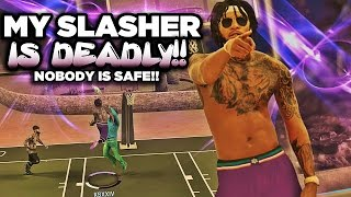 NBA 2K17 MyPARK - NOBODY IS SAFE! My Slasher Is DEADLY! Contact Dunks For Days!