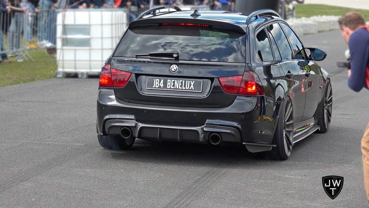 INSANE MODIFIED BMW 335i E91 w/ 900HP!! Burnout, Revs & More Exhaust SOUNDS!