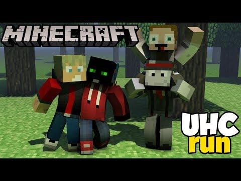 Štvorkové UHC - | UHC run | w-Gejmr Marwex Jawo [Minecraft Minihry]