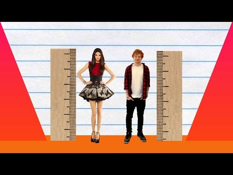 How Much Taller? - Kendall Jenner Vs Ed Sheeran!