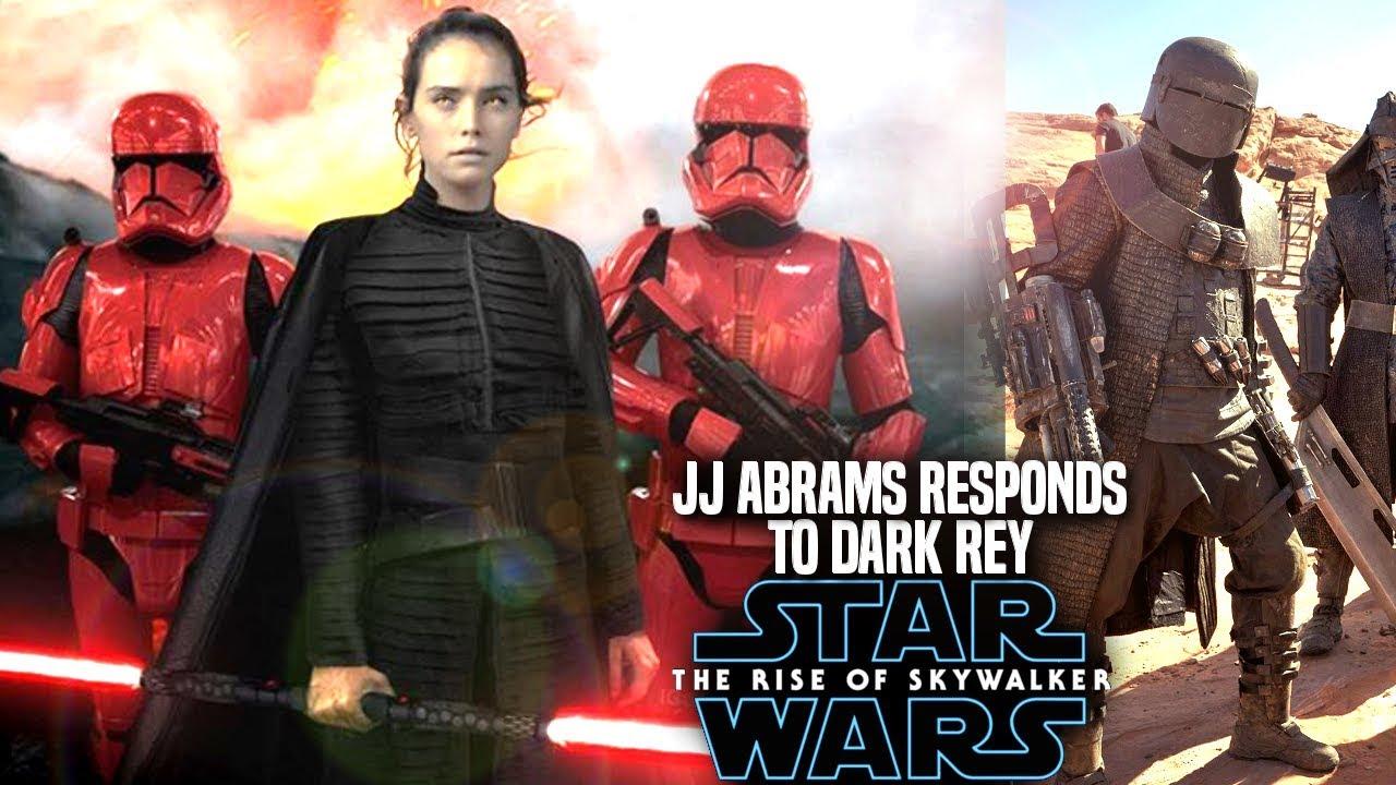 Jj Abrams Responds To Dark Rey The Rise Of Skywalker Star Wars Episode 9 Youtube