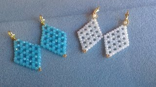 PENDIENTES AZUL Y BLANCO JADE-EARRINGS BLUE AND WHITE JADE