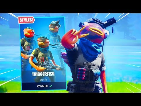 *NEW* TRIGGERFISH SKIN IS AMAZING!