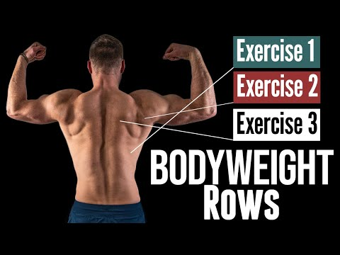 The 3 BEST Bodyweight ROW variations for Back Strength & Muscle, Inverted Rows & More