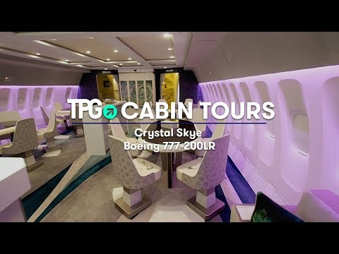 World's Largest Charter Jet | Luxury Crystal Skye 777-200LR | Cabin Tours