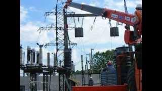 Кран-манипулятор Kanglim 1256G2 на шасси Камаз-43118 (6х6)(Работа КМУ Канглим 1256G-II на модернизации трансформаторной подстанции в окрестностях Санкт-Петербурга...., 2013-06-07T13:46:41.000Z)