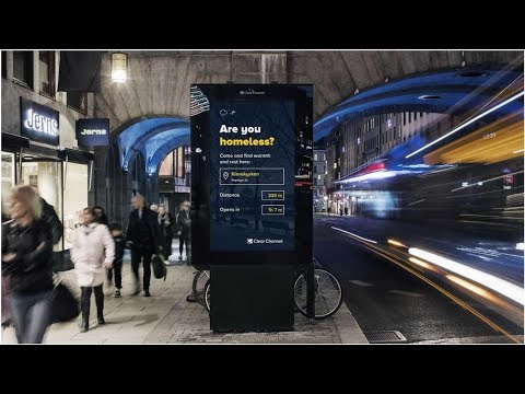 Digital billboards in Stockholm swap ads for homeless shelter info ❇️ Knowledge for Health