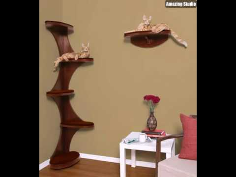 design katzenm bel kratzbaum youtube. Black Bedroom Furniture Sets. Home Design Ideas