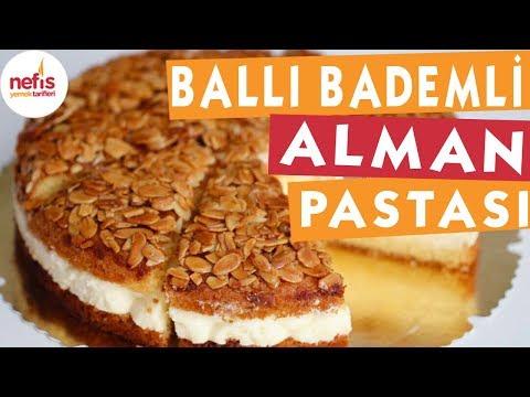 Ballı Bademli Alman Pastası - Pasta tarifleri - Nefis yemek Tarifleri