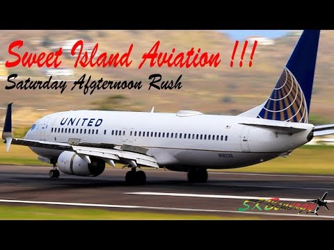 Sweet Island Aviation Action !!!! American 738, Delta 738, United 738, BA 777...@ St Kitts Airport
