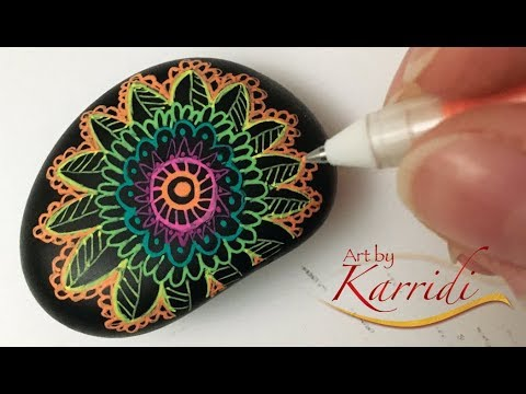 Mandala Gel Pen Rock Tutorial YouTube