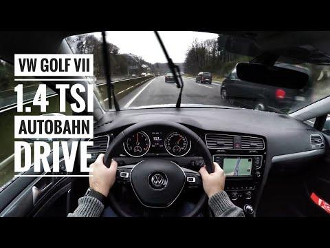 VW Golf VII 1.4 TSI (2016)   POV Drive on german Autobahn