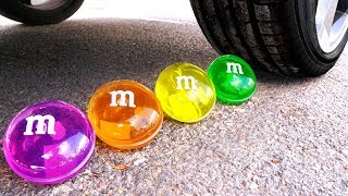 Crushing Crunchy & Soft Things by Car! - EXPERIMENT: CAR vs M&M'S SLIME