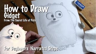How to Draw Gidget from The Secret Life of Pets for Beginners