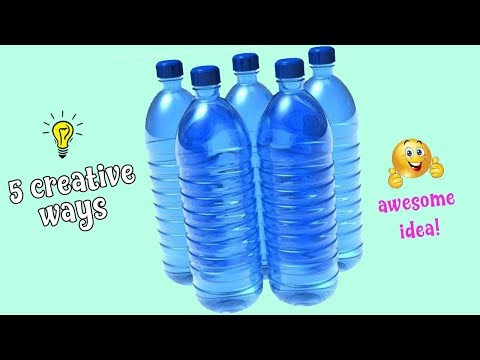 5 Creative ways to reuse plastic bottles| How to recycled plastic bottles