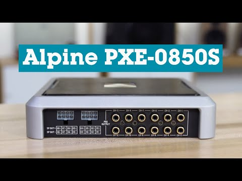 Alpine PXE-0850S 8-channel car amp with DSP | Crutchfield video