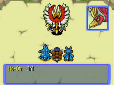 Pokemon Red Rescue Fighting Ho Oh Youtube