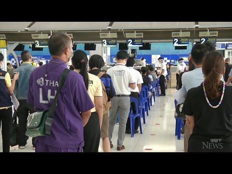 Bangkok airport turned into vaccination hub