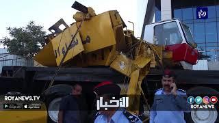 سقوط رافعة في العبدلي يوقع إصابات