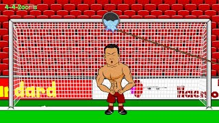 ICE BUCKET CHALLENGE FOOTBALL PLAYERS by 442oons (Ronaldo and friends football cartoon)