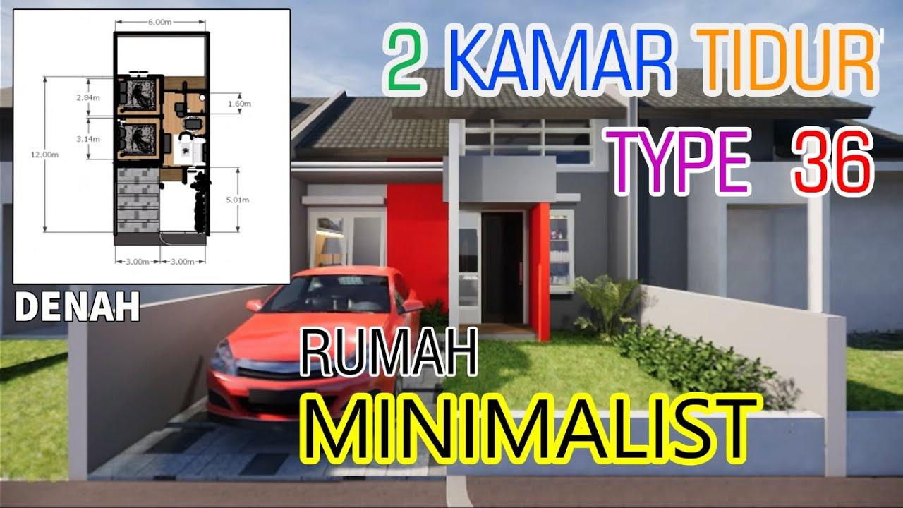 RUMAH Type 36 Ukuran Minimalis / 6X12 TIPE Dengan 2Kamar ...