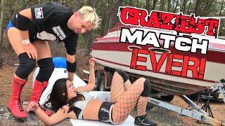 James Ellsworth Backyard Wrestling Vs Gemma Cross