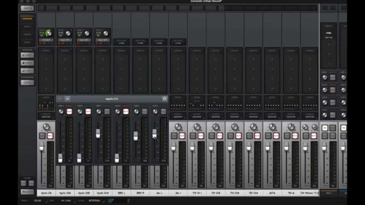 console 2 0 logic pro x i o routing universal audio apollo uad