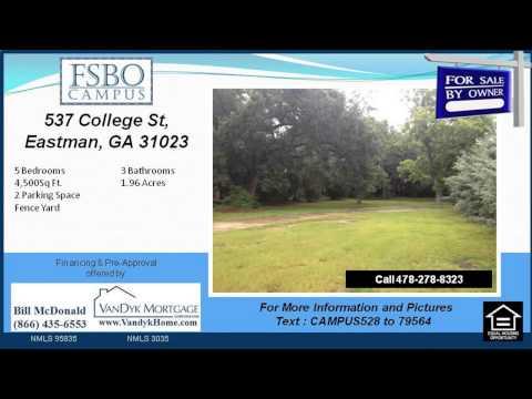 5 bedroom house for sale near North Dodge Elementary School in Eastman GA