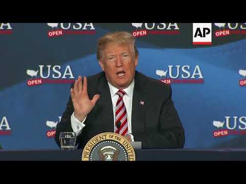 Trump Hails U.S.-Led Strikes on Syria
