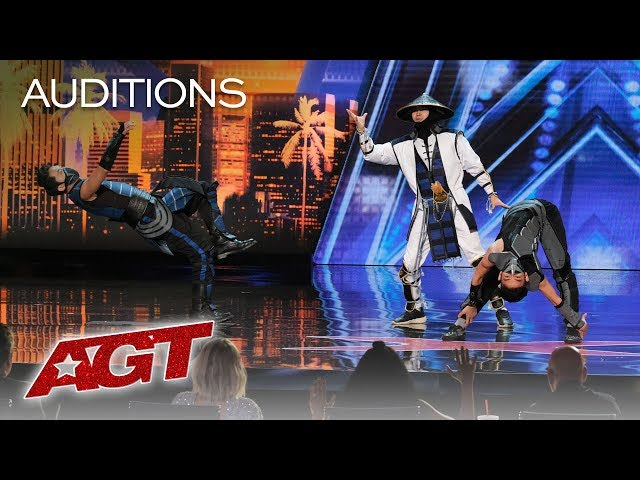 WOW! EPIC Dance Crew Delivers Mortal Kombat x Street Fighter Show - America's Got Talent 2019