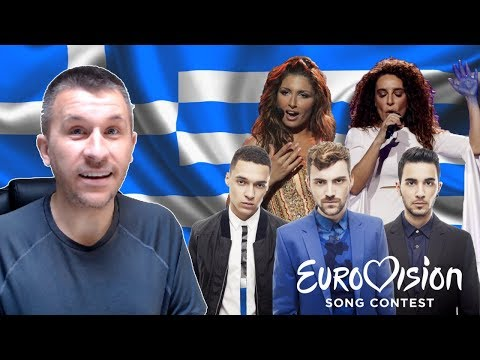 Greece in Eurovision: All songs from 1974-2018 (REACTION)
