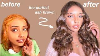 how tiktok made me dye my hair ash brown & it changed my WHOLE look... screenshot 1