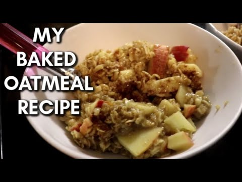 How To Make The Most Delicious Baked Oatmeal Ever | Cinnamon Apple Baked Oatmeal Recipe + Cleaning