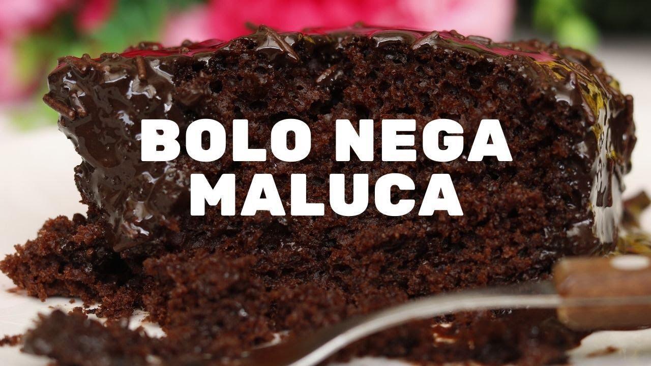 Receita de bolo Nega Maluca bem chocolatudo