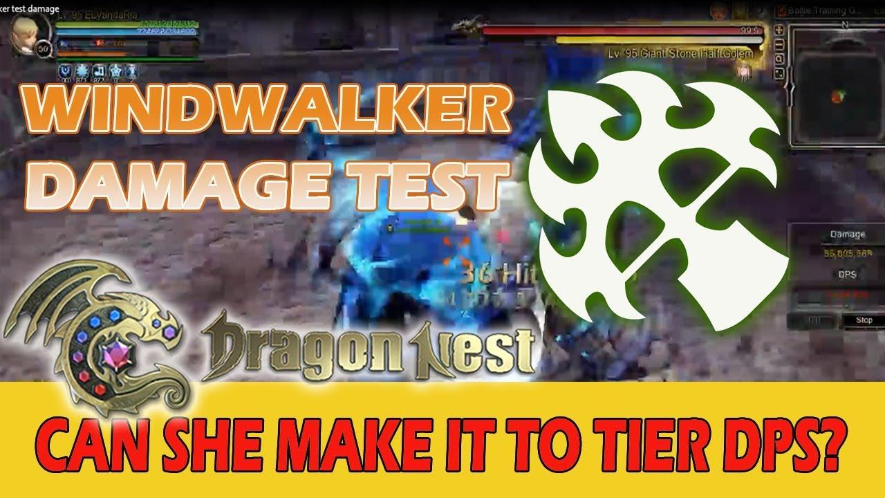 Can She Make It To Tier DPS?(Windwalker Damage Test 2019) Dragon Nest Sea