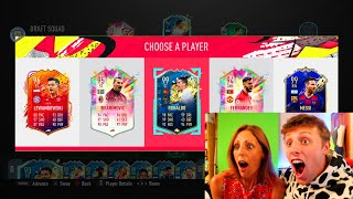 MY MUM GETS A 195 RATED FUT DRAFT!! -  FIFA 20