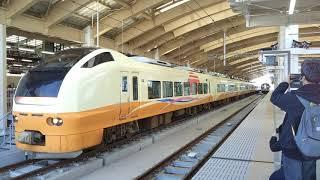 E653系U101編成 2007M 特急いなほ7号 新潟→秋田 新潟駅発車