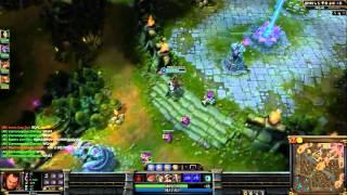 1vs5 Darius level one pentakill E skill + teleport = win