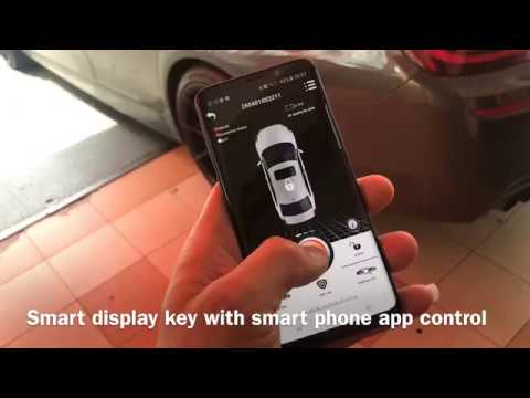 BMW F10 Smart remote display key upgrade with app control from smart phone