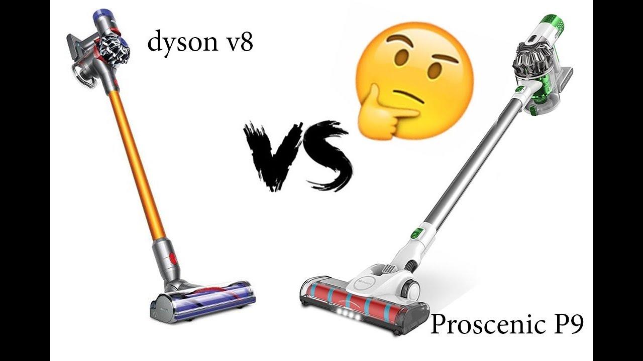 Сравнение <b>Proscenic</b> P9 VS Dyson v8 - тест на ковре и диване ...