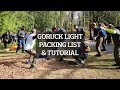 Packing for a GORUCK Light Challenge (Event Packing List & Tutorial)