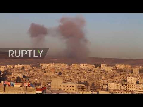 Syria: Smoke clouds Afrin as Turkey launches airstrikes