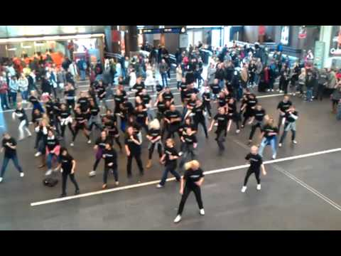 Radisson Blu flash mob for charity at Oslo central station.