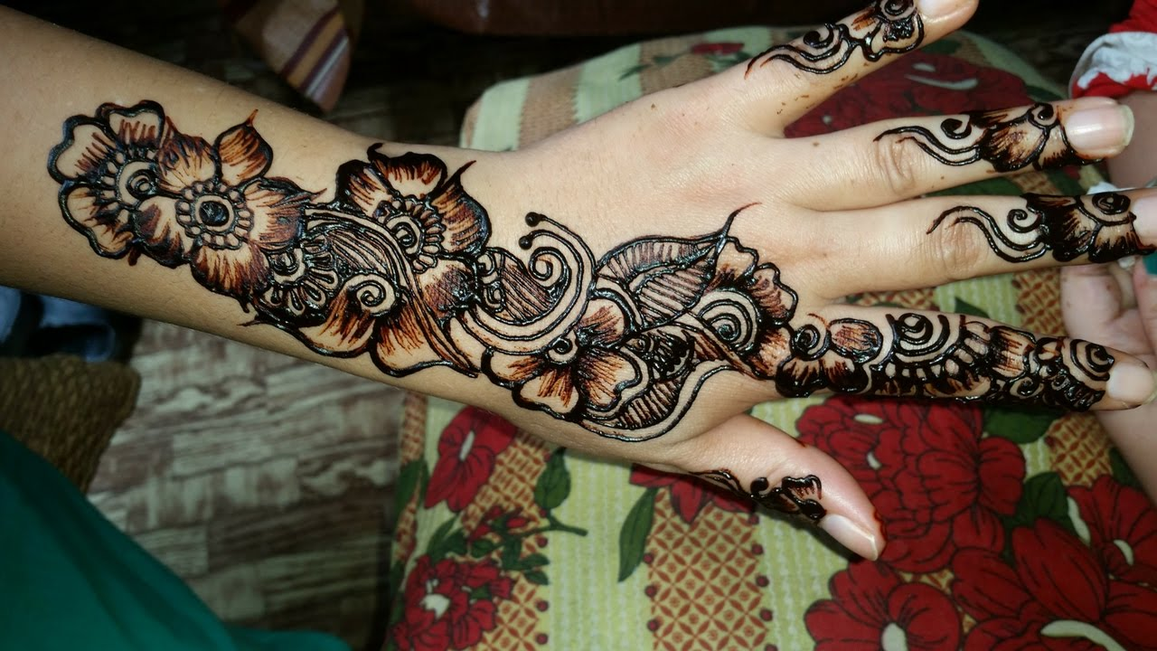 Mehndi Designs Please : Mehndi designs on hands simple easy way rehman