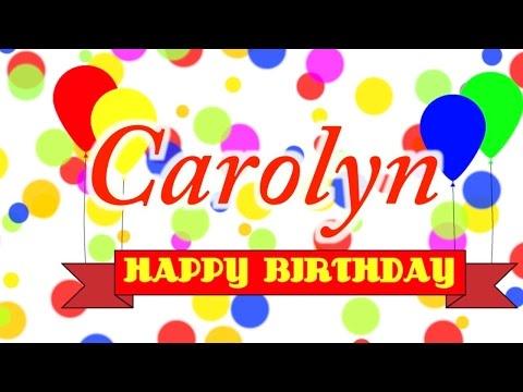 Happy Birthday Carolyn Song
