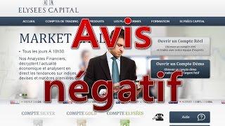 Avis utilisateur - Elysees Capital Forex